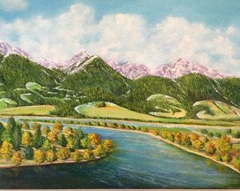 Majestic Montana / visit Montana/Painting/landscape/national park / big sky/oil painting/bigsky/visitMontana/