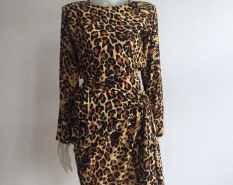 Yves Saint Laurent 1986/87 silk dress