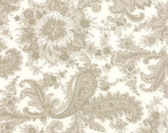 Moda MISS SCARLET Quilt Fabric 1/2 Yard By Minick & Simpson - Ivory 14810 11
