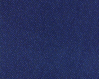 Moda SUMMER BREEZE V Quilt Fabric By The 1/2 Yard - Navy Blue 33307 19