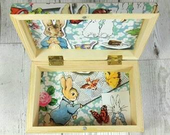 Personalised Keepsake Box, ideal Baby Shower Gift, Peter Rabbit, Bunny Nursery, Beatrix Potter, Nursery Decor, New Baby Gift, 1st Birthday