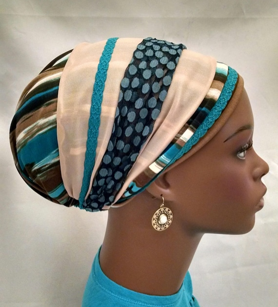 Sand and sky sinar tichel, tichels, chemo scarves, head scarves, hair snoods