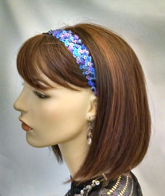 Purple and blue sparkling headband, headbands, hair accessories