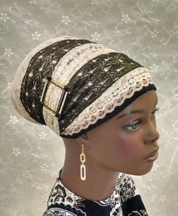Very elegant lace sinar tichel, tichels, head scarf, Jewish head covering, hair snood, mitpachat, Headdress Designs, chemo scarves
