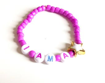 Colorful Bracelet  I AM A STAR for Girls and teens