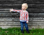 Dog Print Sweater, Kids Top, Toddler Sweater, Toddler Tee, Organic Cotton, Organic Cotton Tee, Unisex Kids Top, Baby Sweater, Unisex Baby