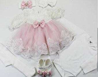 Christening Dress/Gown, Baptism Dress, Baptism Gown,Newborn dress, Baby Girl Dress, Birthday Dress, Dedication Dress