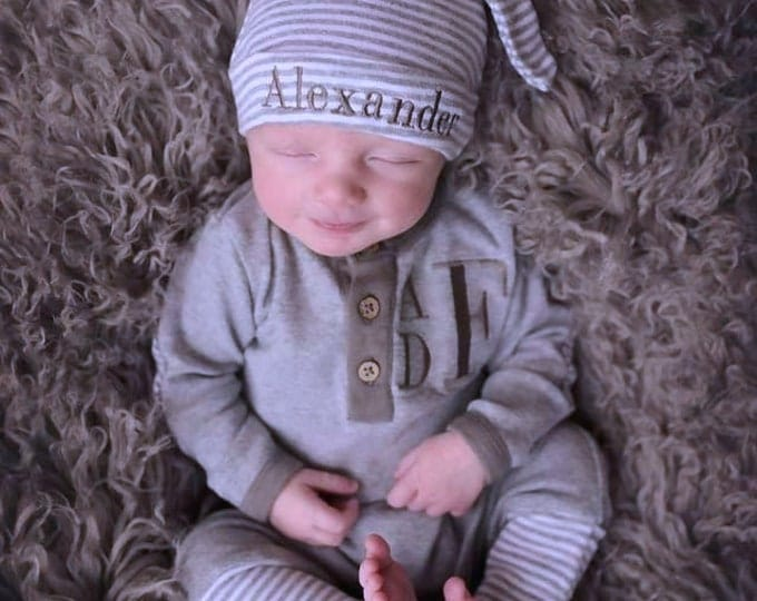 Featured listing image: Coming Home Outfit Baby Boy- Going Home Outfit Boy- Newborn Boy- Baby Shower Gift Boy- Take Home Outfit- Newborn Photos- Organic, Baby Boy
