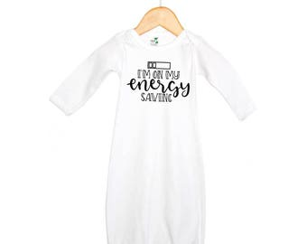 I'm On Energy Saving Mode Bodysuit baby gown Baby Shower Gift Funny Baby and Toddler T-shirts Family