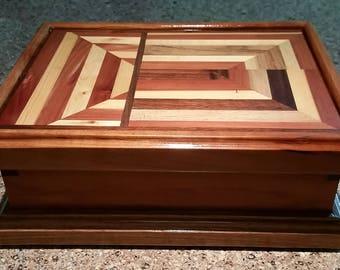 Handcrafted Box, Wooden Box, Essential Oils Box, Storage Box, Jewelry Box, Memories Box, Keepsake Box,  (UNEQUALLY SAME)
