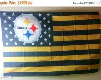 PRE-SEASON SALE 30% Off Pittsburgh Steelers, Steelers Nation Flag or Banner 3' x 5'