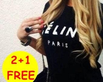 celine paris shirt,women's t shirts,Womens tshirts,fashion shirt,women's tshirts,womens tshirts,women's tshirts,ScreenPrint,Size: XS,S,M,L