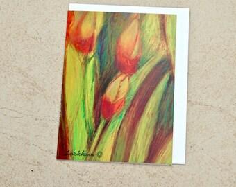 Iris in Yellow Greeting Card