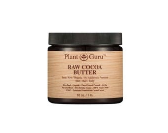 Raw Cocoa/Cacao Butter 100% Pure Fresh Natural Cold Pressed. Food Grade, Skin, Hair, Nail Moisturizer, DIY Creams, Balms, Lotions, Soaps.