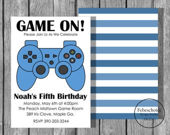 Overwatch Video Game Birthday Invite - Birthday invitation video