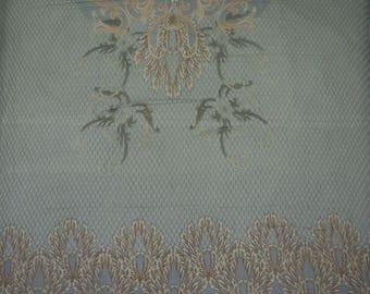 """Designer Fabric, Chiffon Dress, Printed Fabric, Greyish Blue Fabric, 48"""" Inch Chiffon Fabric By The Yard ZBCH152A"""