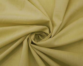 """Beige Cotton Fabric, Home Accessories, Indian Fabric, Sewing Crafts, Indian Fabric, 46"""" Inch Cotton Fabric By The Yard PZBC9O"""