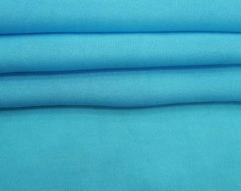 "Aqua Blue Georgette Fabric, Dressmaking Material, Sewing Fabric, Craft Fabric, 44"" Inch Fabric By The Yard ZGF145C"