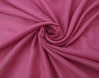 """Pink Color Faux Silk Fabric, Solid Pattern, Decor Fabric, Apparel Material, 55"""" Inch Quilting Fabric By The Yard PZS1A"""