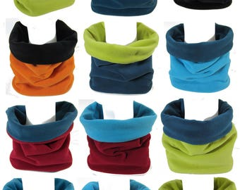 Fleece Snood 2-10 A two-tone customizable Snooki