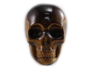 100% Natural High Quality Tiger Eye Skull