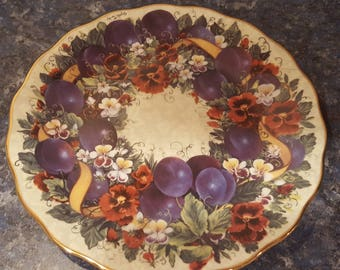 Meaningful Harvest Plum Brilliance collectible plate