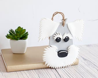 Schnauzer gift, dog ornament, schnauzer lover gift, gift for dog owners, unique schnauzer gift, cute schnauzer gift