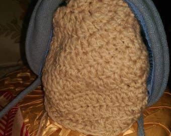 Sweet Little Girls Woolen , Lined Bonnet