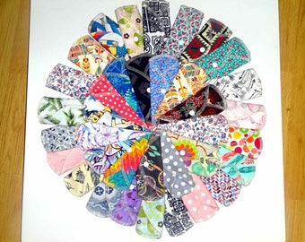 12 Pack- 100% Cotton Flannel CLOTH PANTYLINER-/PANTY Liner-2 layers- Panty Liners For Everyday Wear