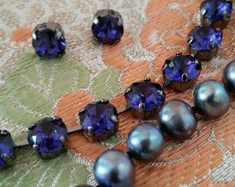 PURPLE VELVET Swarovski Crystal Necklace