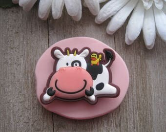 Cow Silicone Mold - Cow Mold - Silicone Mold - Food Safe Mold - Fondant Mold - Flexible Mold - Resin Mold - Playful Cow Mold - Molds