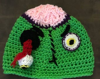 Zombie hat with brains