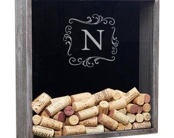 Personalized Wine Cork Holder, Shadow Box Wine Cork, Wine Lover Gift, Wedding Gift, Anniversary Gift