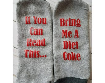 Valentine's Gift For Men/ Mens Custom Socks/ Groomsman Gift/ If You Can Read This Socks