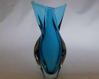 Vintage Murano Art Glass Fishtail Vase