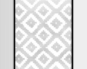 Abstract art, Grey white, Geometric Art, Modern art, Wall decor, Digital art, Printable, Digital poster Instant Download 8x10, 11x14, 16x20