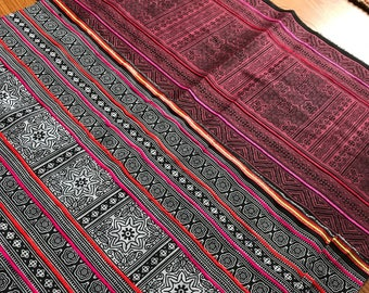 Hmong Indigo Batik Scrap Fabric - 1 Lot