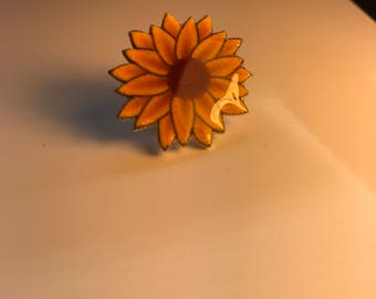 Sunflower pin