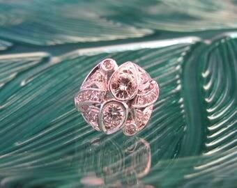 Vintage Estate Art Deco White Gold Diamond Ring