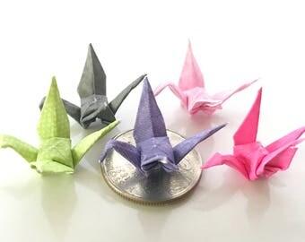 Mini origami cranes, set of 20 paper cranes, origami cranes,