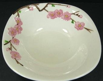 Mid Century Metlox Poppytrail Peach Blossom 9in Round Vegetable Serving Bowl MCM