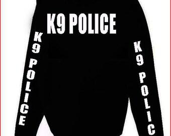 K9 Police Hoodie S-5XL Black