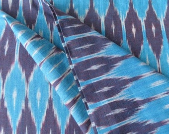 Blue And Purple Ikat Fabric By The Yard