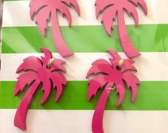 Pink Wood Palm Tree Decoration
