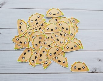 Kawaii Taco Die Cuts, Embellishments, Punchies, Punches, Party Favors, Toppers, Decor