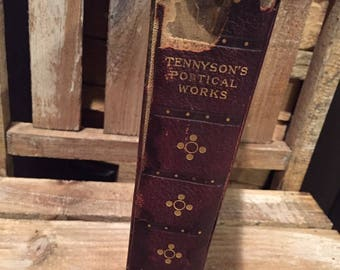 Antique Book, Tennyson Poems, Antique Library, Vintage Book, Antique Decor, Old Poems, Classic Reading, Famous Poets, Lord Tennyson, Books