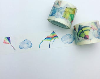 Clouds and kites washi tape