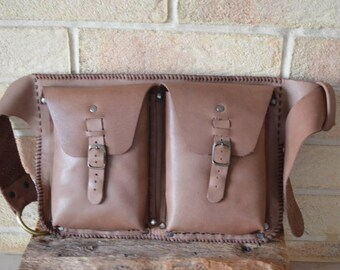 Handmade leather Fanny pack