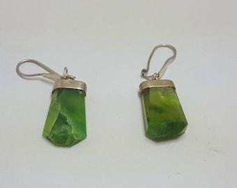 Vesuvianite Earrings Green Idocrase@ Afghanistan (1)