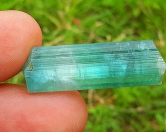 WOW 28 Carat Beautiful Blue Color Tourmaline Crystal@Afghanistan